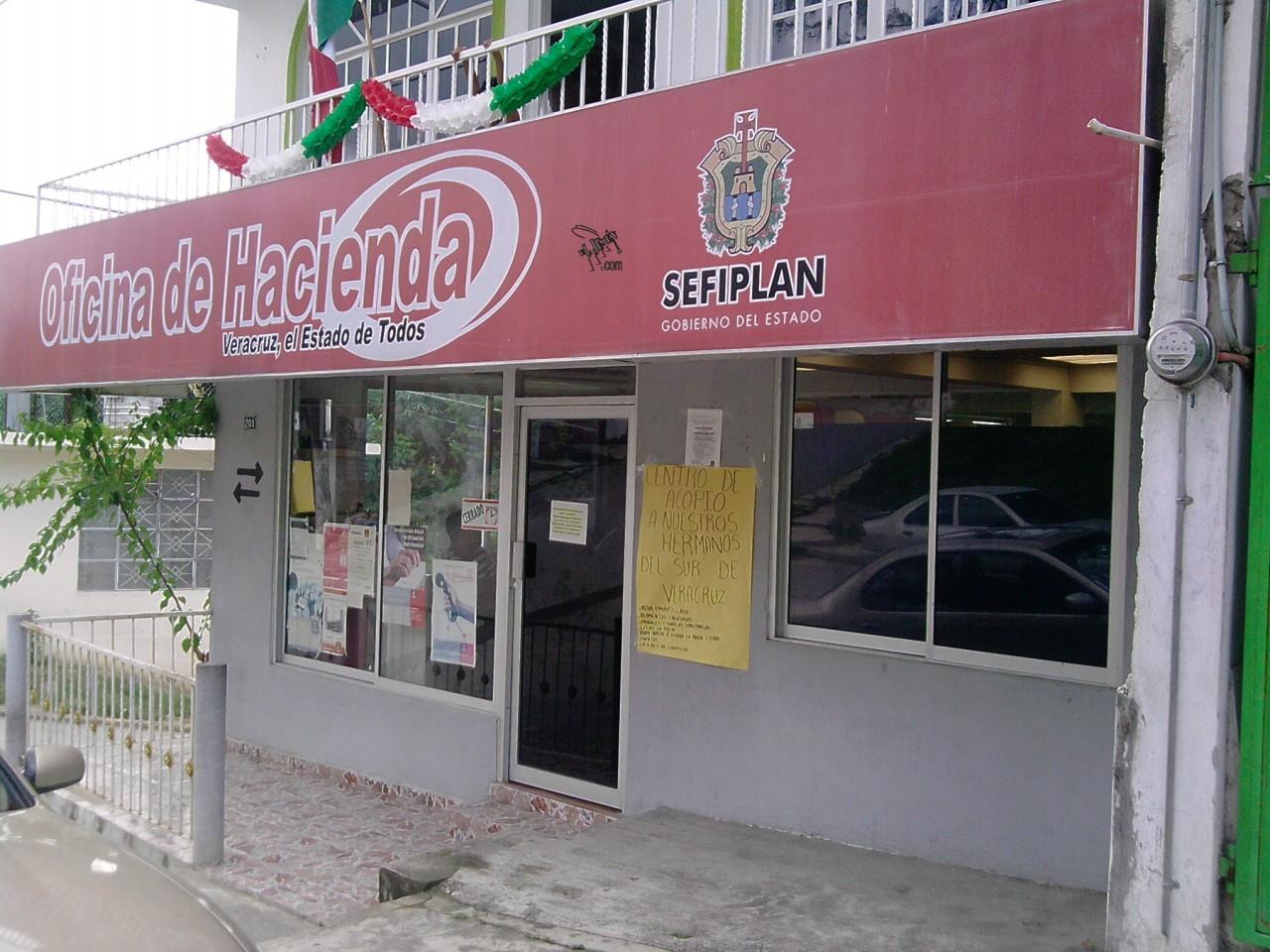 No fluye ayuda al centro de acopio instalado en hacienda for Oficina hacienda